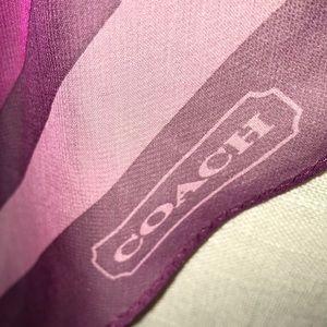 Coach Accessories - ❤️FRIYAY SALE ‼️ Coach Silk Scarf